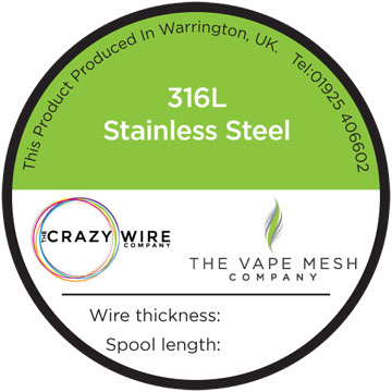 0.28mm 316 Marine Grade Stainless Steel Wire by The Crazy Wire Company 29 AWG